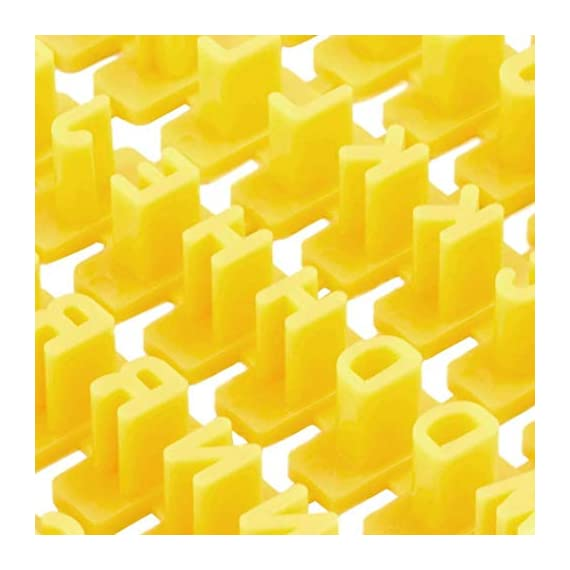 Dasado Keland Alphabet Letter Number Cookie Stamp Mold Cutter Press Home Kitchen Pastry Brushes 6 Material: Plastic Pattern: Letter A-Z, Number Application: Cake, Cookie, etc