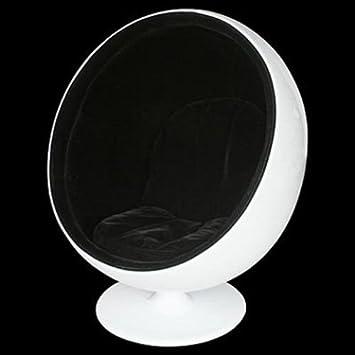 BALL BLACK/WHITE POD CHAIR / NOVELTY CHAIRS /   FW461