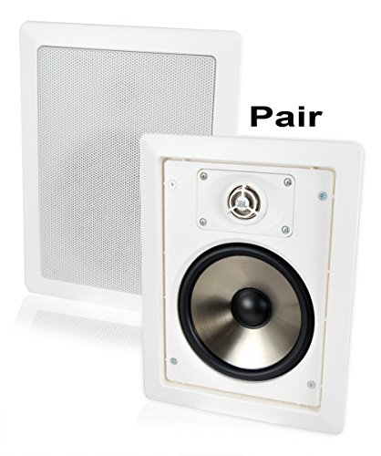 JBL SP6II 6-1/2″ 2-way In-Wall / In-Ceiling Home Theater Square Surround Sound Loudspeaker with Swivel Mount Tweeter and Grills (Pair, White)