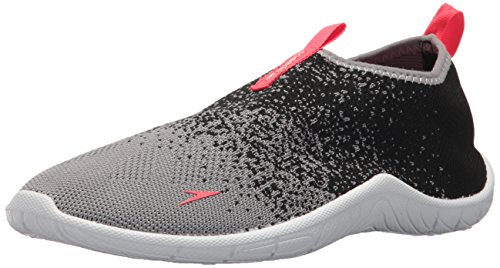 Flame Thong - Speedo Women's Surf Knit Water Shoe, Frost Grey/Flame, 10 C/D US