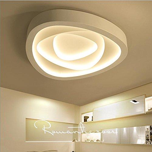 Lilamins Luces LED Lámpara de techo dormitorio techo personalidad Light-Artistic creatividad cálido salón romántico, modernas lámparas de luz blanca grande ...