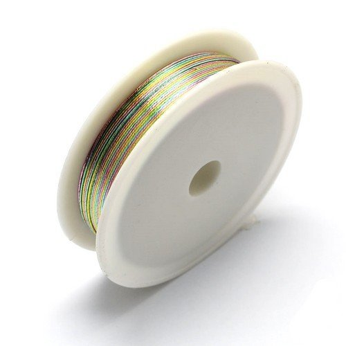 HA16225 Charming Beads 1 x Silber Eisendraht 20 Meter x 0.3mm Spule