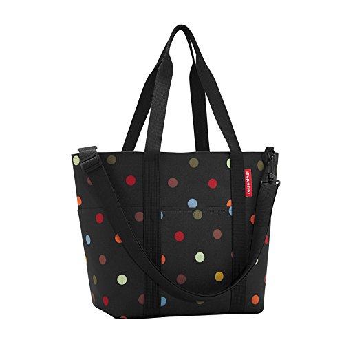 reisenthel Multibag, Carryall 10-Pocket Tote with Removable Shoulder Strap, Dots