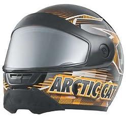 Arctic Cat New Oem Snowmobile Helmet Pfp Aircat Orange Xs 5232-330