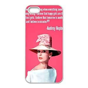 Custom Cover Case for iPhone 5,iPhone 5s w/ Audrey Hepburn Quote image at Hmh-xase (style 11) by waniwa
