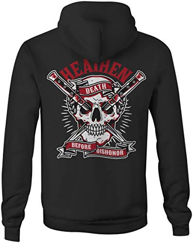 Heathen Death Before Dishonor Hoodie (X-Large, Black) (Before The Nation)