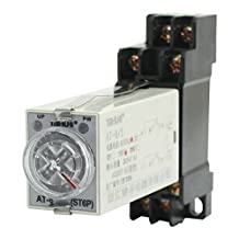 Rotary Knob Control AC110V 8 Pin DPDT 5S Power on Delay Relay w Socket