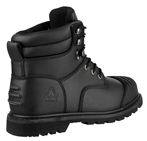 Amblers Safety Mens FS11 Leather Safety Boots Black negro - negro
