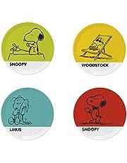 Risparmia su Excelsa Peanuts Set 4 Piatti Pizza, Porcellana, Multicolore, 4 Pezzi e molto altro