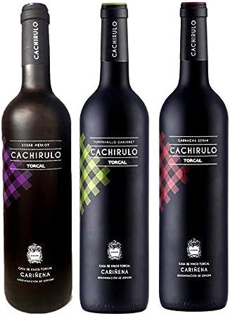Estuche de 3 Botellas - Pack Cachirulo Rojo, Verde, Morado - 2018 - DOP Cariñena - Bodega de quinta generación