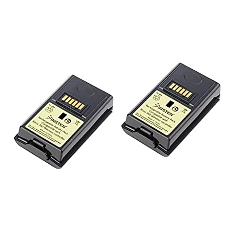 Insten [2 Pack] Rechargeable 3600mAh Battery Pack For XBOX 360 Wireless Controller Black