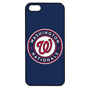 MLB Major League Baseball Washington Nationals Apple iPhone 5 TPU Soft Black or White case (Black)