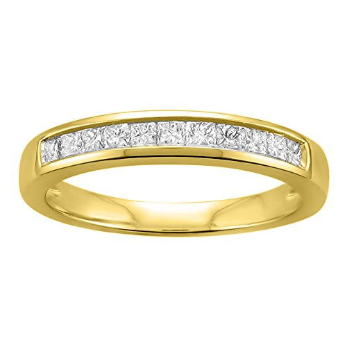 14k Yellow Gold Princess-cut D