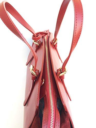 Femme L Rouge À Pour L'épaule Porter Superflybags Sac HB8wgg