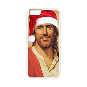 Jesus Christ Santa Hat iPhone 6 Plus 5.5 Inch Cell Phone Case White phone component AU_540380
