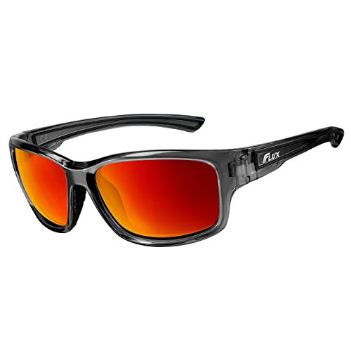Flux Polarized Sunglasses for Men and Women: DYNAMIC Series with Polycarbonate Lens and Anti-Slip Frame for Action Sports like Shooting, Golfing, Fishing and Daily Driving | No Glare Sports Sunglasses