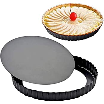 Pizza /& Desserts Renewed Flan Cheesecake Fruit /& Pastry Dish Non-Stick Loose Bottom Deep Pans Tart Pan with Removable Bottom for Quiche Baking Dishes 11 inch Bakery Essential