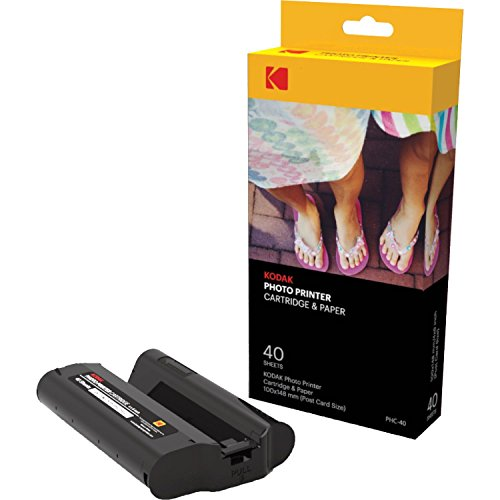 Kodak Dock Paper Cartridge Bundle + Deluxe Case + 4x6'' Album + Sticker Frames,40 Pack Bundle by Kodak (Image #1)