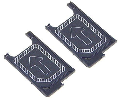MMOBIEL Nano SIM-Karte Tray Schlitten Halterung Slot Ersatzteil für Sony Xperia Z3 / Z3 Compact / Z5 Compact (Schwarz)