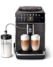 Philips Saeco Espressomachine - 14 Koffievariaties - 4 Gebruiksprofielen - Kleurendisplay - Dubbele Espresso - Latteduo melksysteem - Keramische maalschijven - Automatische reiniging - SM6580/10