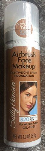 Sally Hansen Airbrush Face Makeup Lightweight Spray Foundation, Natural Tan #320. (Airbrush Foundation)