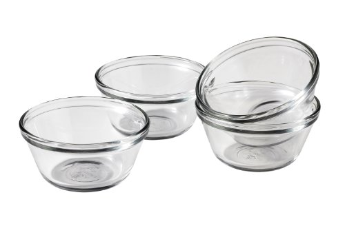 Anchor Hocking Glass Prep Bowls Custard Cups, 6 Ounce, Set of 4 by Anchor Hocking