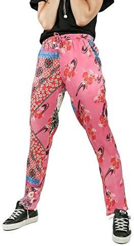 Pinko PHEBO Pantaloni Joggers da Donna Mult.Fucsia/Azzurro,1B14KG-8055