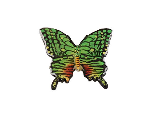 (Creative Pewter Designs Tiger Swallowtail Butterfly Insect Hand Painted B Lapel Pin, Brooch, Jewelry, AP042B)