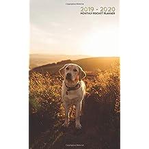 2019-2020 Monthly Pocket Planner: Golden Labrador at Sunset