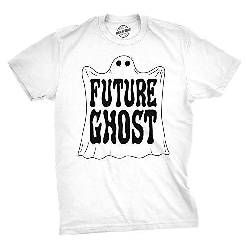 Mens Future Ghost Funny Halloween Costume Tee Spooky