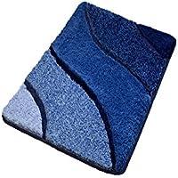 Large Soft Blue Bath Rug - Modern Design (23.6 x 35.4)