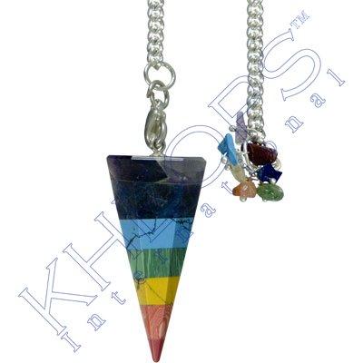 (Pendulum Hexagonal 7 Layered Chakra Stones)