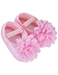 Iuhan® Toddler Kid Baby Girl Chiffon Flower Elastic Band Newborn Walking Shoes