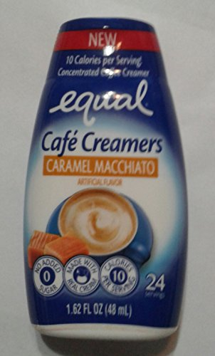 Equal Coffee Creamer Caramel Macchiato Café Simple Squeeze Coffee Creamer Low Sugar Low Calorie, 1.62 fl oz (1 - Cafe Creamer