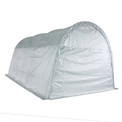 Quictent 20'X13'x10' Heavy Duty Carport Canopy Garage Shelter for Truck/ SUV/ Boat Silver by Quictent (Image #1)