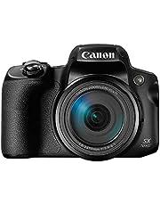 Canon Powershot SX70 20.3MP Digital Camera 65x Optical Zoom Lens 4K Video 3-inch LCD Tilt Screen (Black)