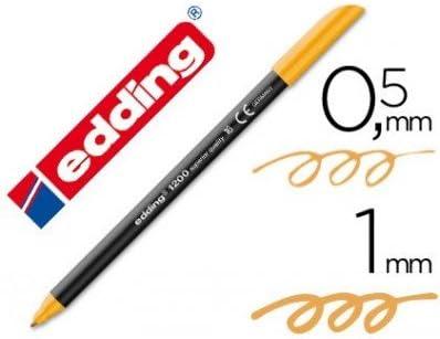 Edding - Rotulador punta fibra 1200 naranja claro n.16 -punta redonda 0.5 mm (5 unidades): Amazon.es: Oficina y papelería