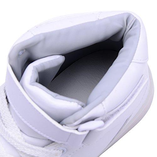 Sneaker 7 Leuchtend Turnshuhe Weiß Sportschuhe LED Unisexe Farbewechsel Odema qTZnPtE