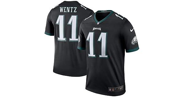 ff6ae0ae5bb Amazon.com: NIKE Carson Wentz Philadelphia Eagles Black Color Rush Legend  Jersey (Small): Clothing