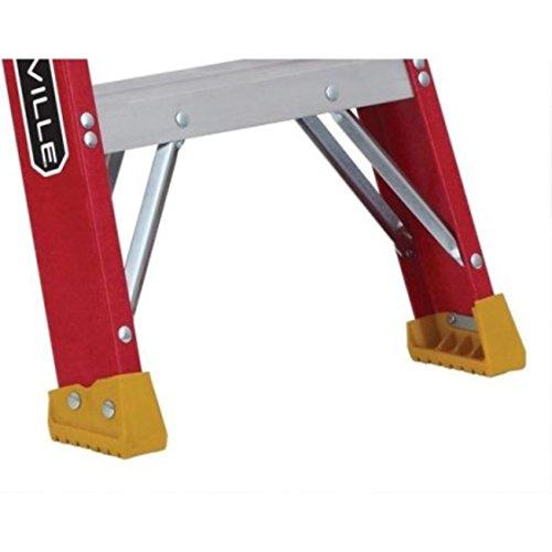 Step Landing Type Fiberglass Heavy Duty Gusset Bracing 8 ft. Step Ladder by Louisville (Image #1)