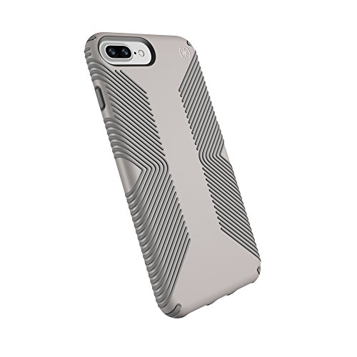 Speck Products Presidio Grip Cell Phone Case For IPhone 8 Plus /7 Plus/6S Plus/6 Plus- CATHEDRAL GREY/SMOKE GREY - 106293-6922