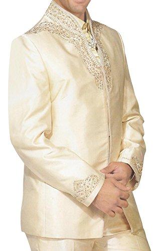 INMONARCH Mens Royal Stylish Designer 5 pc Tuxedo Suit TX200 38R Ivory