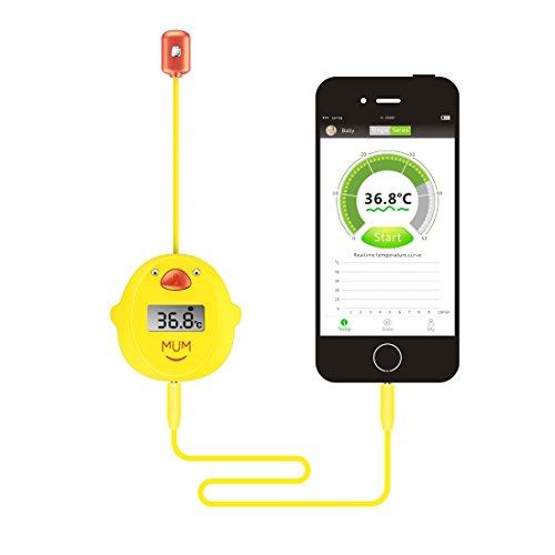 MUMWITH Baby / Erwachsener Intelligente Digitale Thermometer Körper Temperatur Fieber Tester Monitor mit Sensor von Achsel Axillaris