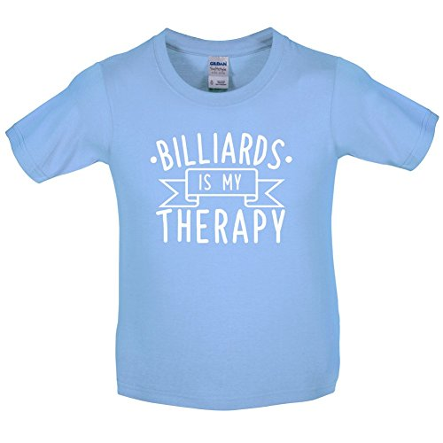 Dressdown Billiards Is My Therapy - Childrens / Kids T-Shirt - Light Blue - XS (3-4 - Light 3 Billard