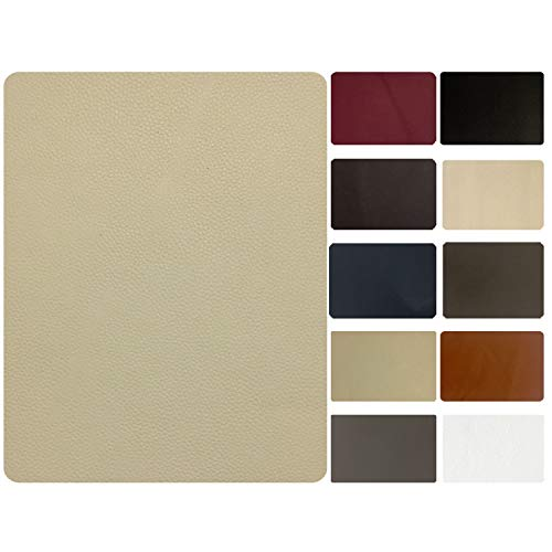 - Leather and Vinyl repair patch by TMgroup, genuine faux leather repair patch, peel and stick for couch, sofas, car seats, hand bags,furniture, jackets, large size 8 x 11 inches (Medium Beige)