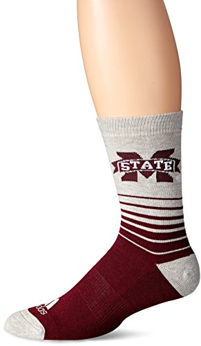 NCAA Mississippi State Bulldogs Crew Sock, Size 9-11, Maroon Mississippi State Player