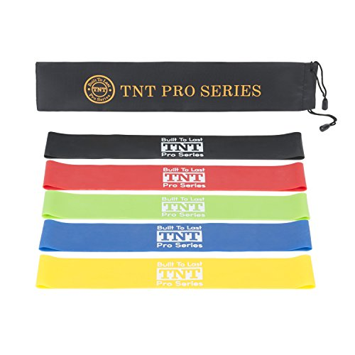 TNT Pro Series Workout Resistance Loop Bands for Legs – Premium Exercise Bands – Set of 5-2 Inches Wide For Sale