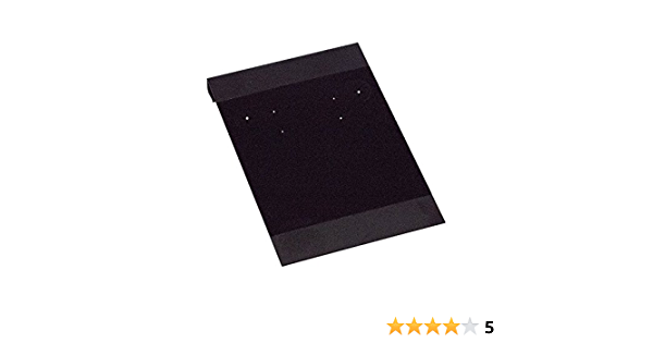 """Details about  /50 Plain 2/"""" x 2/"""" Black Flocked Hanging Earring Cards Stud and Dangling Jewelry"""