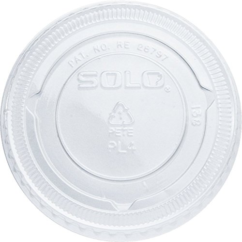 Solo Foodservice PL4N Pet Plastic Portion Cup Lid, Clear (Pack of 2500)