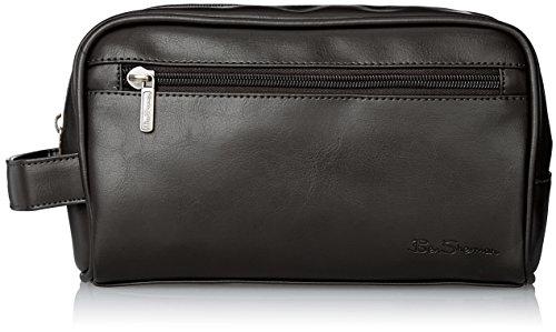 Ben Sherman Men's Mayfair Grainy Pvc Top Zip Single Compartment Travel Kit, (Grainy Leather)